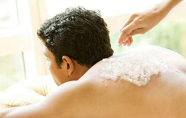 Sugar scrubs and other body treatments for men and women at Blue Skies Massage in Longmont