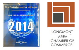 Chamber of Commerce and Deep Tissue Massage Best of Longmont 2014